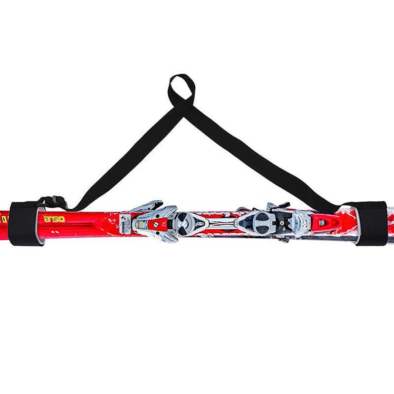 Ayarlanabilir kayak Pole omuz el taşıma kirpik sapanlar Porter kanca döngü koruyucu siyah naylon kayak kolu askısı çanta