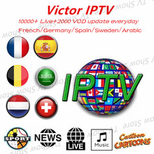 IPTV French Sweden Spain UK Germany Arabic Nordic Europe Netherland Canada H.265 HD IPTV Support M3U Smart TV Series VOD(China)