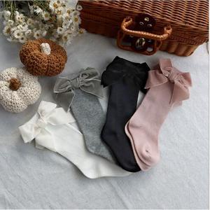 От 0 до 5 лет; Сезон осень зима; Детский с бантиком для девочек; Носки без пятки; Однотонные Детские фланелевые носки|Носки|   | АлиЭкспресс