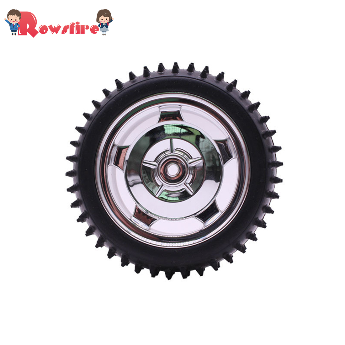 85mm Off-Road Tyre DIY Intelligent Robot Car Wheel Programming Toy Car Tire With Liner - Electroplating Red