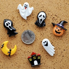 7pcs Halloween Push Pins Decoration Pumpkin Bat Ghost Thumbtack Drawing Tack Pin Creative Cork Board Layout Halloween Supplies