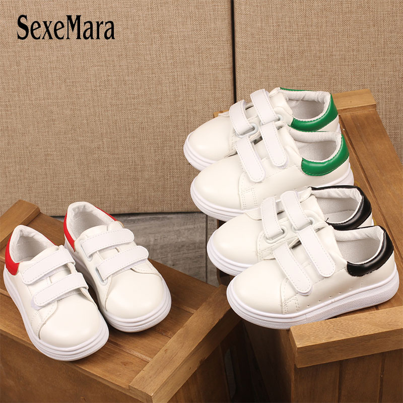 School Student White Kids Shoes For Girl Baby Boy Shoes Flat Causal Running Shoes Toddler Classic Children Sneakers Boys C12191