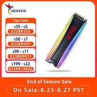 ADATA XPG SPECTRIX S40G RGB M2 SSD NVMe 256G 512gb 1TB M.2 2280 PCIe SSD wewnętrzny dysk SSD do laptopa dysk SSD