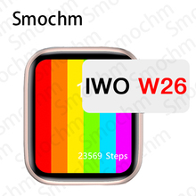 Smochm W26 W26M IWO Watch 6 Smart Watch 44MM 40MM Infinite Screen Waterproof Temperature Blood Pressure for iOS Androd Phone