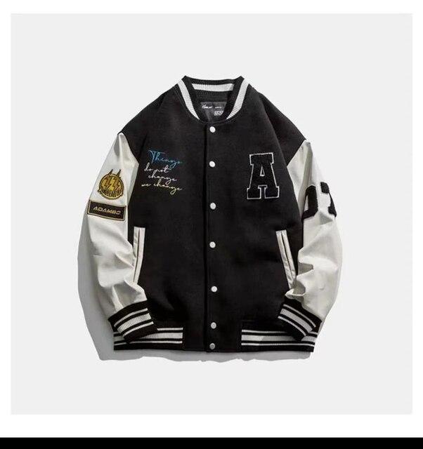 American baseball uniform men's spring and autumn flight jacket men's spring jacket couple Japanese tide brand men's 2021 new 2