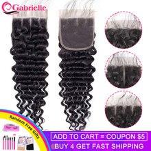 Gabrielle Бразильские глубокие волнистые застежки бесплатно/Средние/три части Remy человеческие волосы предварительно выщипанные с детскими вол...