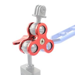Image 5 - Triple Morsetto a Sfera 3 Fori Subacquea Braccio Diving Staffa per La Fotografia Della Torcia di Alluminio Diving Luci di Palla Farfalla Clip di Montaggio