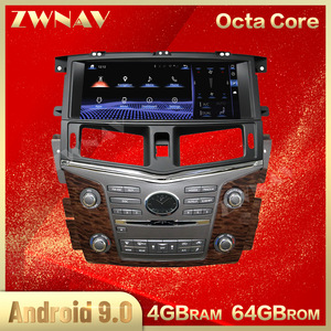 Octa Core-lecteur multimédia de voiture Android 12.3 | 9.0 pouces, 4 + 64G, pour Nissan patrouille XE Infiniti QX80, 2010 + voiture, Navi Radio, unité de tête stéréo
