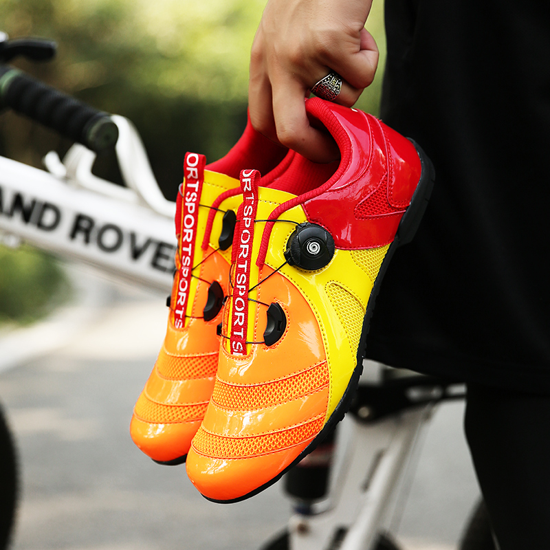 Tide Speed Lacing Professional Cycling Shoes Men Women Bicycle Sneakers Breathable Light Road Bike Shoes Outdoor Lovers