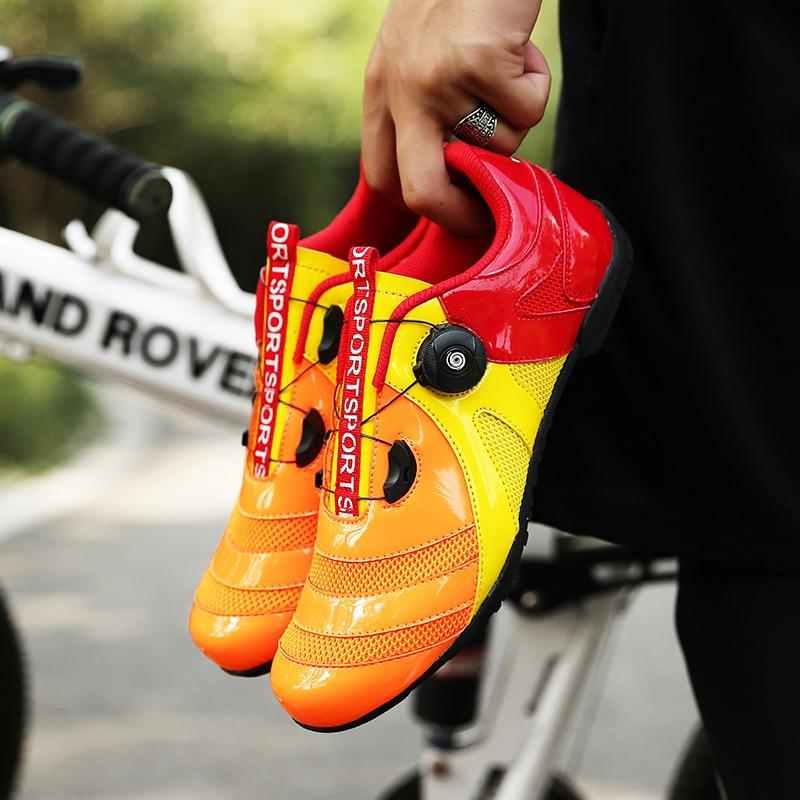 Sapatos para Mulheres dos Homens de Bicicleta de Ciclismo Sapatos de Bicicleta de Estrada ao ar Velocidade Maré Lacing Profissional Tênis Luz Respirável Amantes Livre