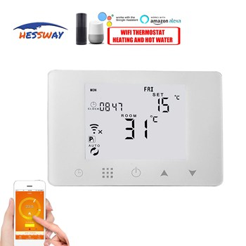 TUYA APP smart warm floor RF& wifi thermostat electric heat 16A for Dual sensor Works with Alexa Google home