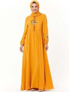 Image 3 - Повседневное женское Платье макси с вышивкой в исламском стиле, кафтан плюс, винтажные свободные молитвенные платья, одежда из Турции, халат, Новинка
