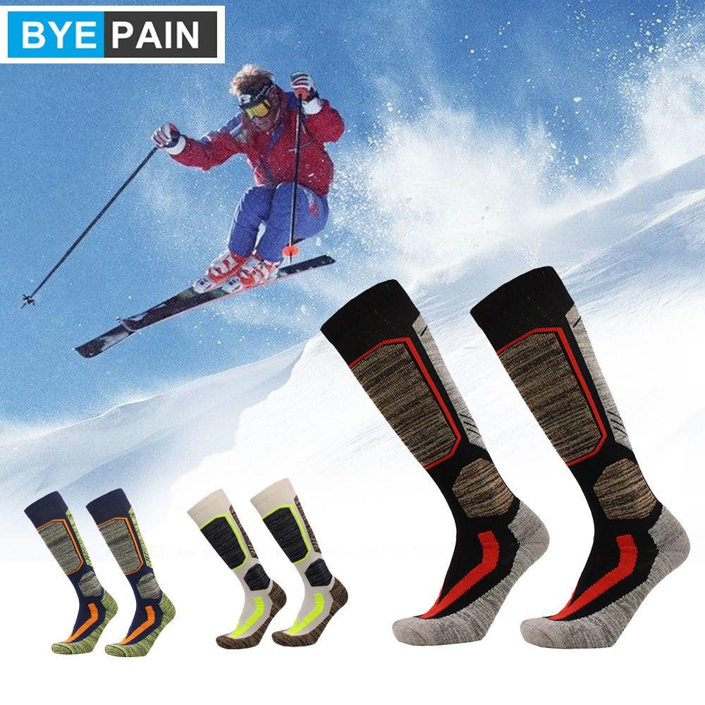 1 пара BYEPAIN высокоэффективные хлопковые Лыжные носки-уличные Лыжные носки, носки для сноубординга