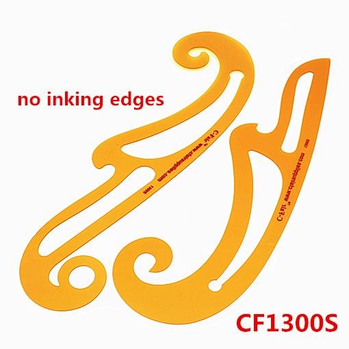 French Curve Ruler,PVC Plastic Flexible Armhole Comics Template,Art Fashion Design Rulers,no Inking Edges CF1300S