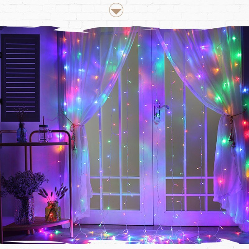 3M LED Curtain String Lights Christmas Fairy Lights Garland Home Decorative Lights For Wedding/Party/Garden Decoration