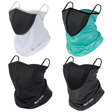 Summer new Sports PM2.5 ice silk With Activated Carbon Filter Anti Pollution Anti-UV Breathable Running Bandana Cycling Headwear