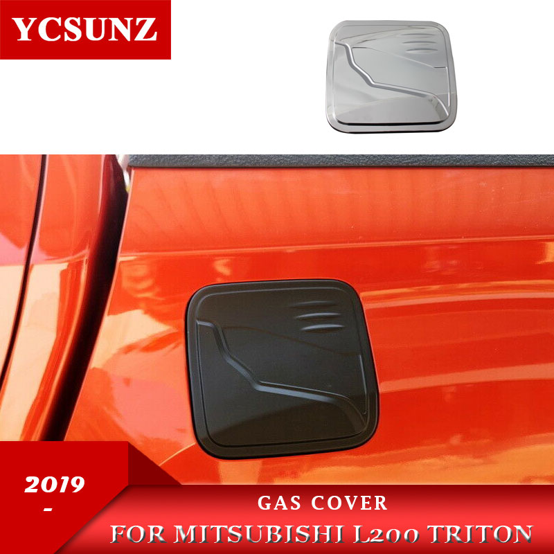 Gas Cover For Mitsubishi L200 Triton 2019 2020 Ram 1200 Strada Strakar Barbarian ABS Chrome Color image