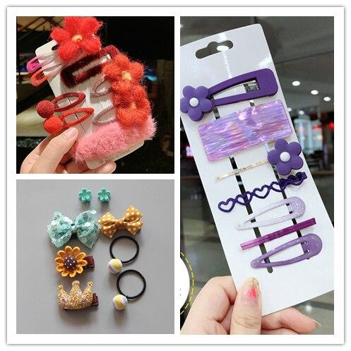Cute Hairpins Floral Hair Clips For Girls Barrettes butterfly Kids Accessories Pins Headdress Children Headwear Clearance