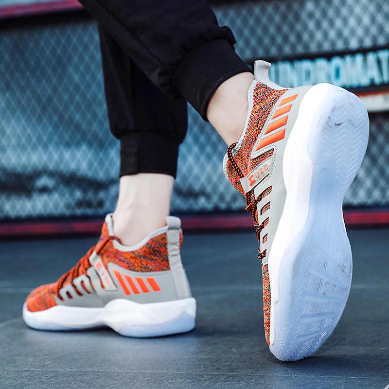 Männer High-top Jordan Basketball Schuhe Männlichen Dämpfung Licht Gym Training Turnschuhe Anti-skid Atmungsaktive Männer Outdoor Sport schuhe