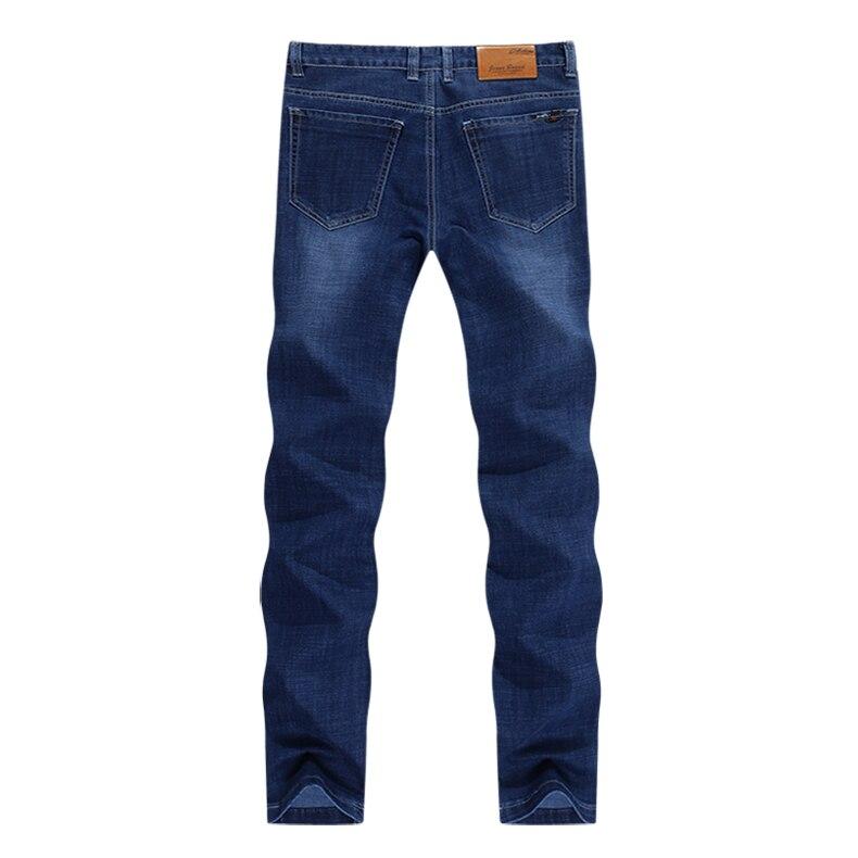 KSTUN Blue Jeans Men 2019 Autumn Straight Elastic Jeans Fashion Business Classic Style Work Trousers Pants Men Cotton Jean Homme 12