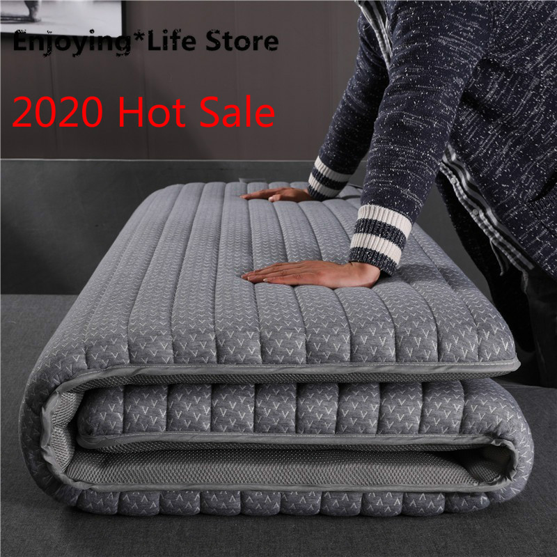 2020 Latex Mattress Folding Breathe Foam Tatami  Mattress For Queen/King /Twin/Full Size Bed Mattress Bedroom Furniture Tatimi