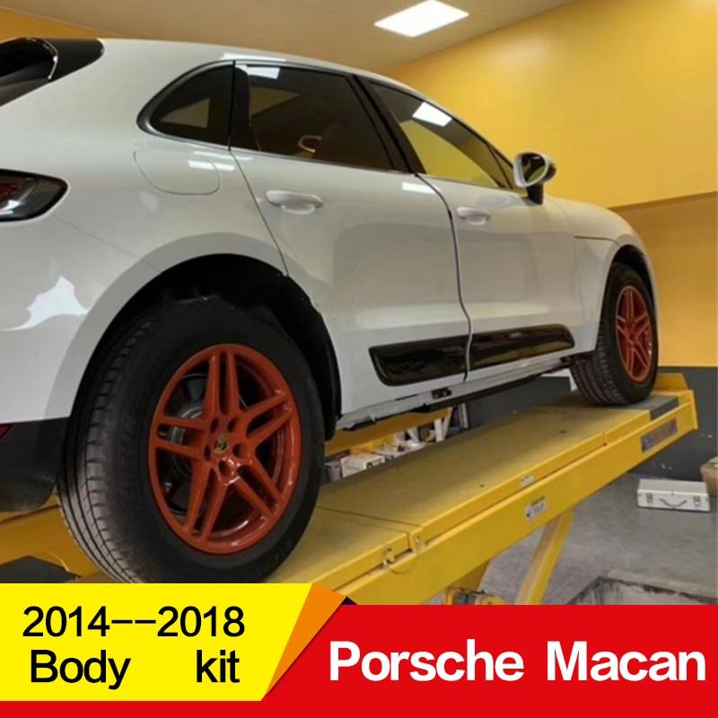 Используется для Porsche Macan, дверной комплект 2014 15 16 17 18 лет, отделка дверей из углеродного волокна, декоративные панели, аксессуары