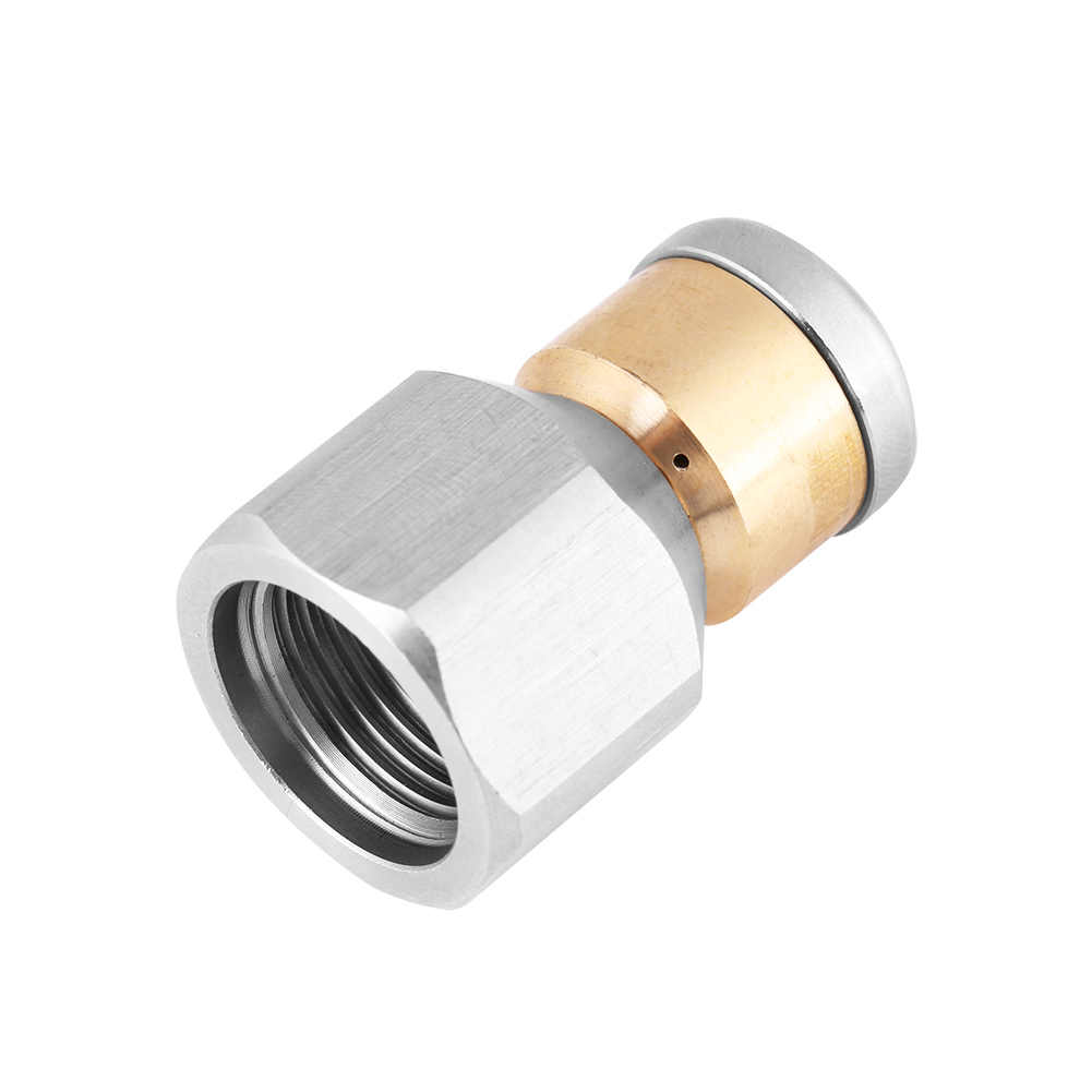 TOOLSTAR Boquilla de limpieza plateado SS304 boquilla de limpieza de tuber/ía de alcantarillado de presi/ón boquilla de desag/üe para lavadora a presi/ón
