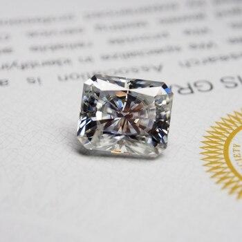 4*6mm Radiant Cut 0.61carat White Moissanite Stone Loose Moissanite Diamond  for Ring making