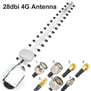 4G Antenna Yagi Antenna 28dbi 4G LTE SMA Male BNC TNC RP SMA Male Outdoor Directional Booster Amplifier Modem RG58 1.5m(China)
