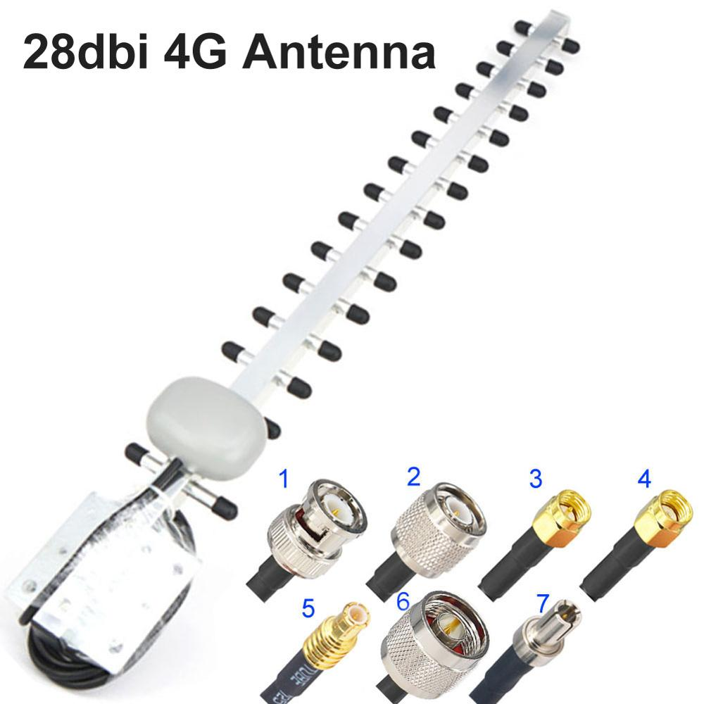 4G Antenna Yagi Antenna 28dbi 4G LTE SMA Male BNC TNC RP SMA Male TNOutdoor Directional Booster Amplifier Modem RG58 1.5m