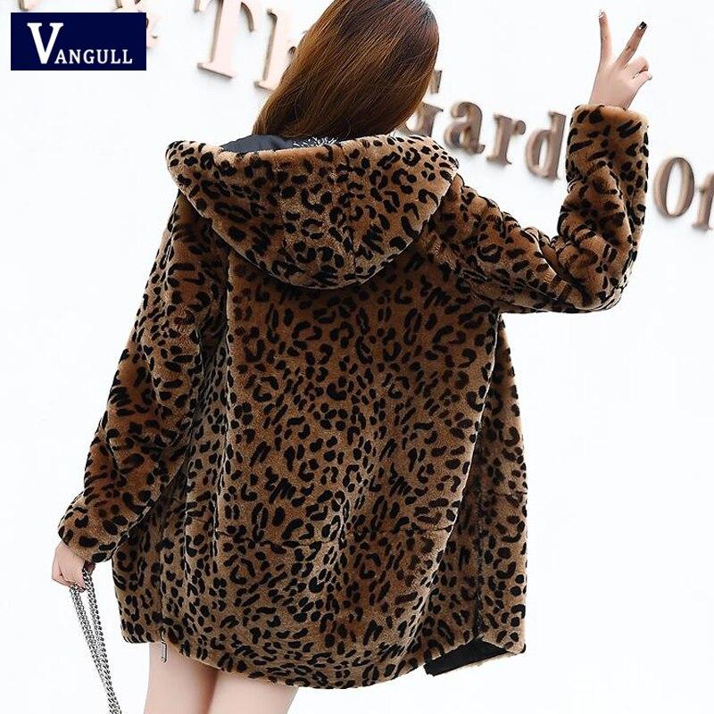 Size kobiety Leopard futro