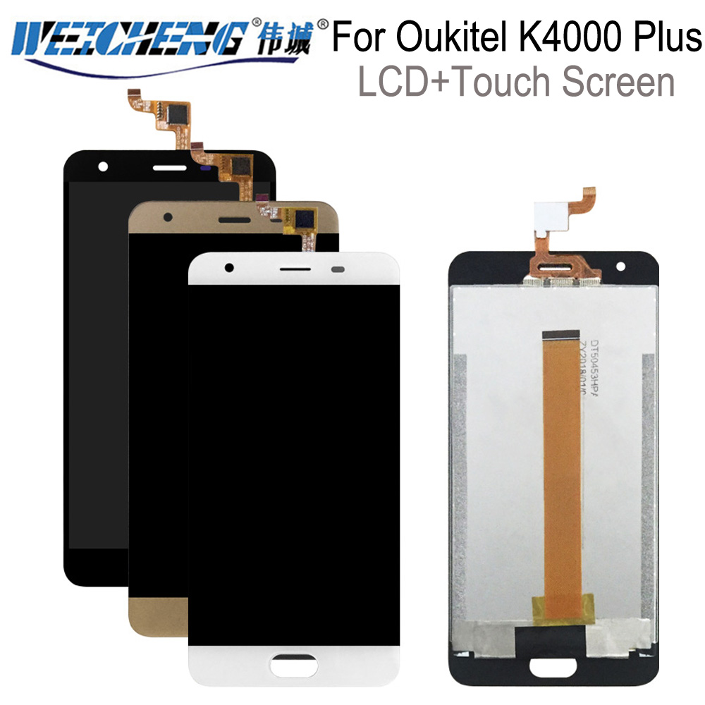 For <font><b>Oukitel</b></font> <font><b>K4000</b></font> plus LCD Screen Display 100% Tested Top Quality Replacement For <font><b>K4000</b></font> Plus LCD Display +tools image