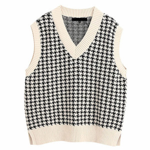 Women Vest Sweater 2020 Fashion Knitted Sweater Loose Vintage Female Waistcoat Chic Oversize Sweater Tops Women Clothes Outfit