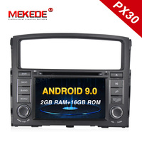 PX30 2Din Steering Wheel Android 9.0 For MITSUBISHI PAJERO V97 4Core 2G+16G Car DVD Multimedia Video Player GPS Navigation