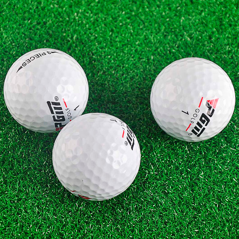 White Golf Balls Rubber Sport Game Outdoor Training Match Competition Exquisite Training Aids 42.6mm Diameter Three-layer Ball image