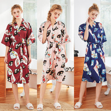 New Silk Wedding Pajamas Women Long Bridesmaid Red Bridal Home Nightgown Winter Sexy
