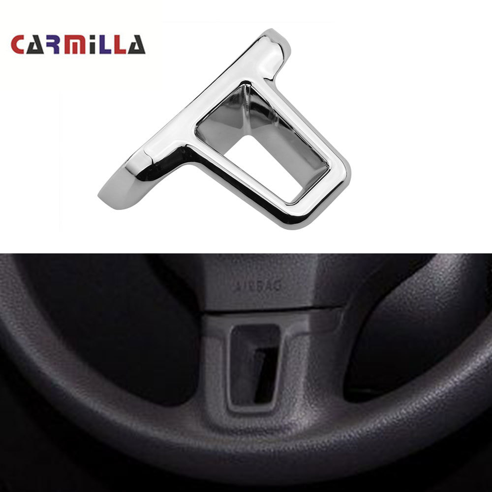Car Steering Wheel Bottom Middle Chrome Cover Insert Trim For VW 2009-2013 Golf 6 Mk6 Bora 2011-2014 Polo Jetta Eos Touran Caddy