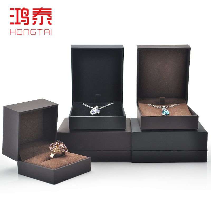 Top Grade Touch Paper Jewellery Box Packaging Wedding Benifit Gift Box Ring Accessories Show Jewlery Box