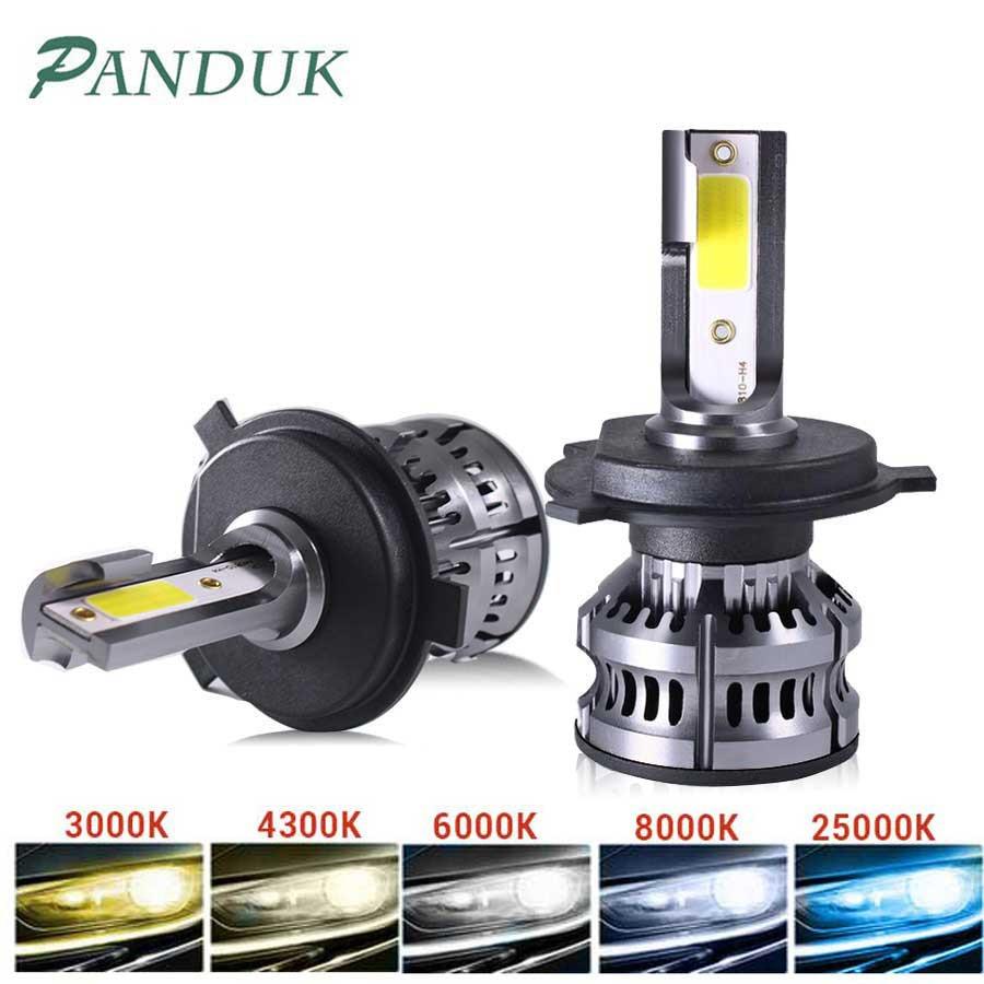PANDUK 14000LM Car Haedlight H4 H7 H1 LED H8 H9 H11 LED 4300K 5000K 6500K 8000K 25000K Auto fog Light 12V LED Bulb