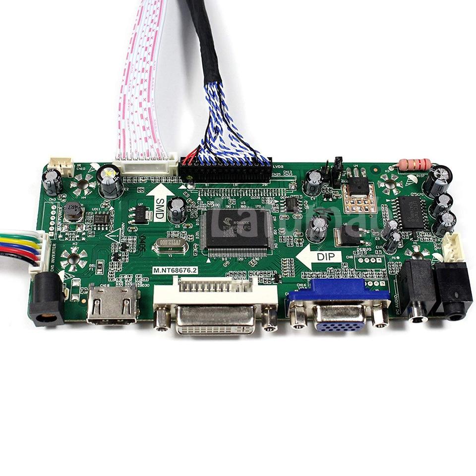 MONITOR LCD Scheda Driver Controller KIT per LP156WH1 TL A1 HDMI + DVI + VGA
