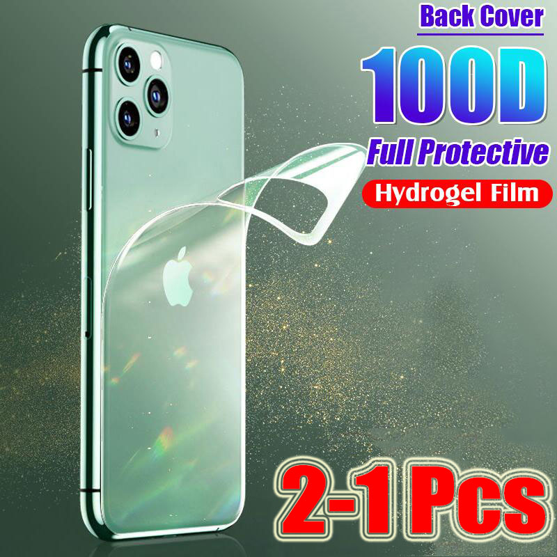2Pc Back Screen Protector Not Glass For iPhone 7 8 Plus 11 Pro XR X XS Max Protection Hydrogel Film For iPhone 7 6 6s Plus Film