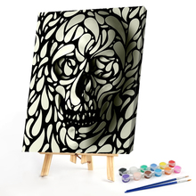 40x50cm  Hand Painted Abstract Graphic Skull Painting By Numbers DIY Art Hand Painted Home Wall Art Decor  Picture Decoration