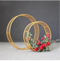Новый tieyi свадебный реквизит Подиум дорога свадебное украшение Цветочная композиция креативная Сетка кольцо кулон