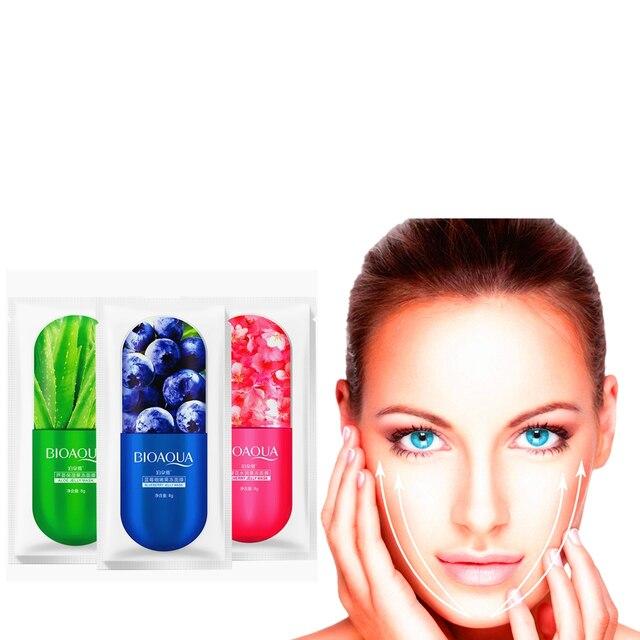 Fruits Hyaluronic Acid Moisturizing Sakura Face Mask Collagen Sheet Mask Acne Treatment Facial Mask Skin Care Korean Cosmetics