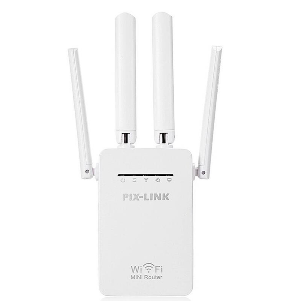 2.4/5G 4-Antenna WIFI Router 300Mbps Dual-Band Range Extender WiFi Repeater Wireless Wi-Fi Router Home Network Home Supplies