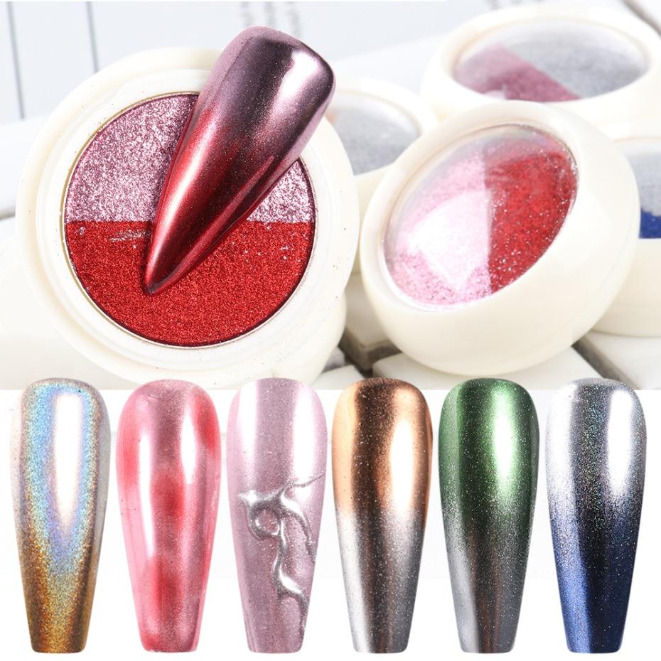Mirror Powder Metallic Nail Glitter 1