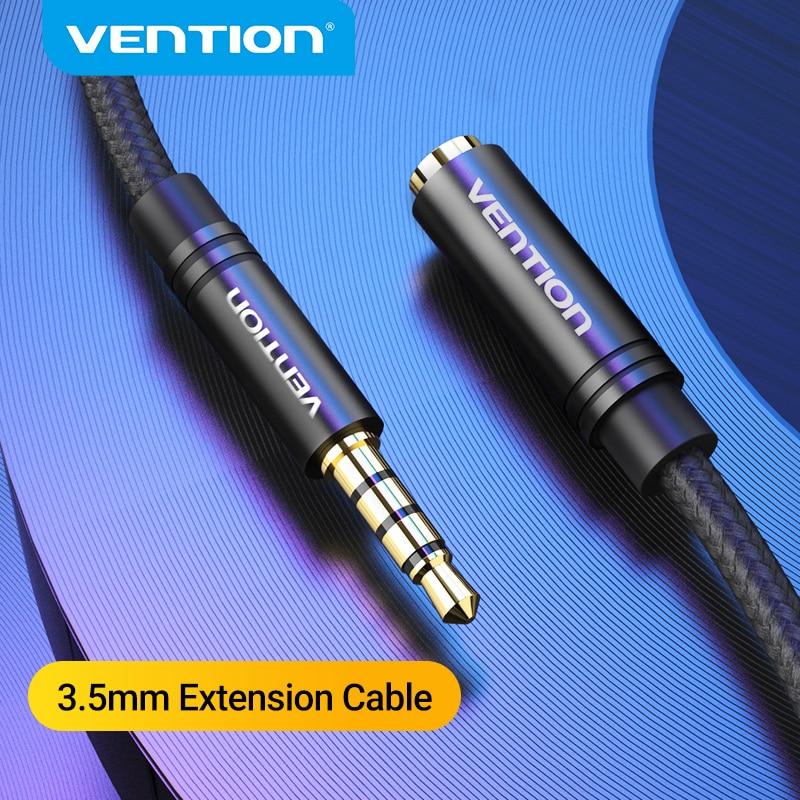 Удлинительный кабель Vention Jack 3,5 мм для наушников, Удлинительный кабель для Huawei P20 lite, стерео кабель AUX 3,5 мм