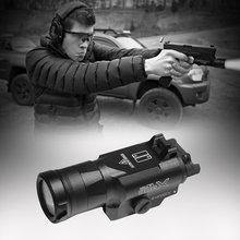 Пистолет фонарик для оружия тактический фонарь светодиодный
