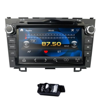 8 display Car Stereo DVD Stereo Fit HONDA CRV 2007-2011 GPS Navigation USB SWC BT Subwoofer with map card has CN AU EU stock image