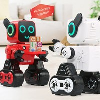 RC Robot High tech Intelligence Remote Control Toys 2.4G Coin Bank Mechanics RC Toys Gift for Children Adult R4